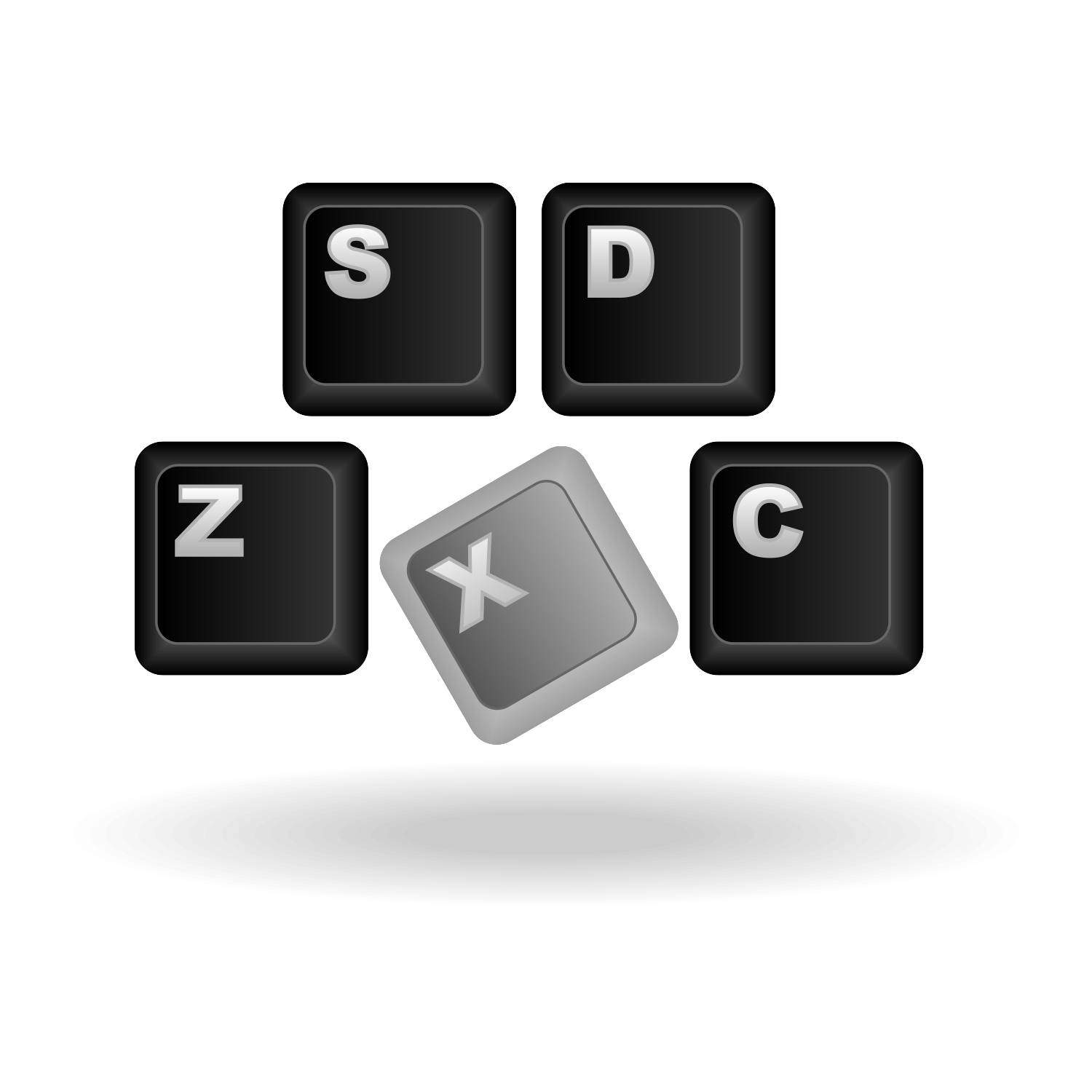 Vector for free use: Keyboard icon vector