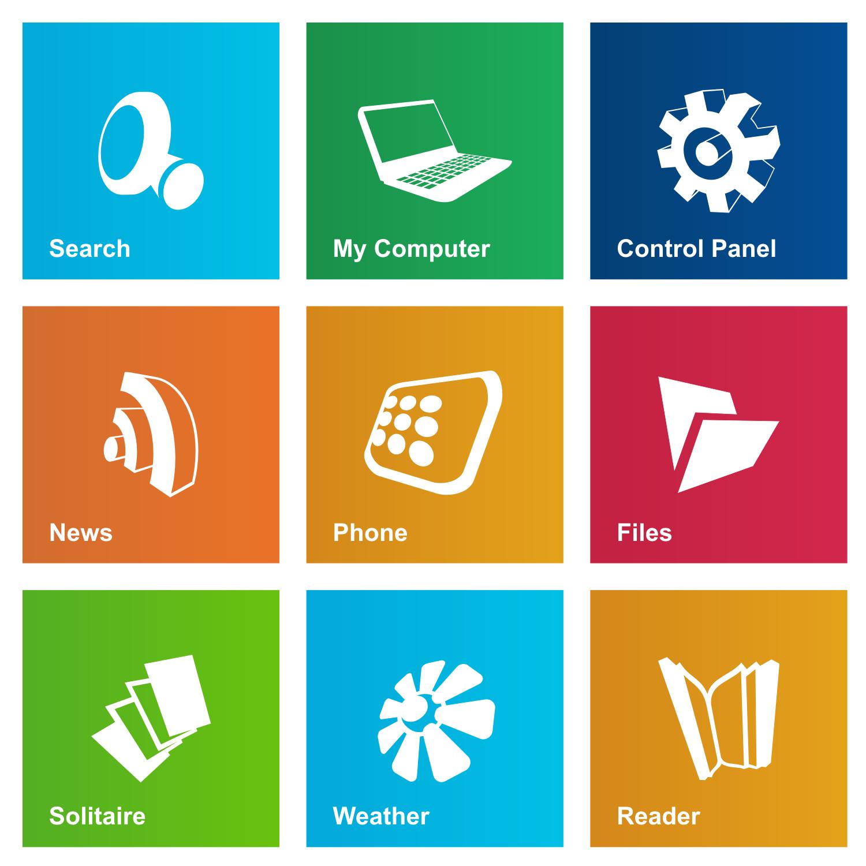 Date   10 10 2012Windows 8 Vector Icon
