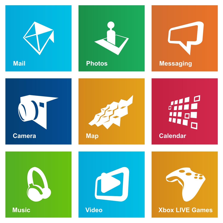 Date   03 10 2012Windows 8 Vector Icon