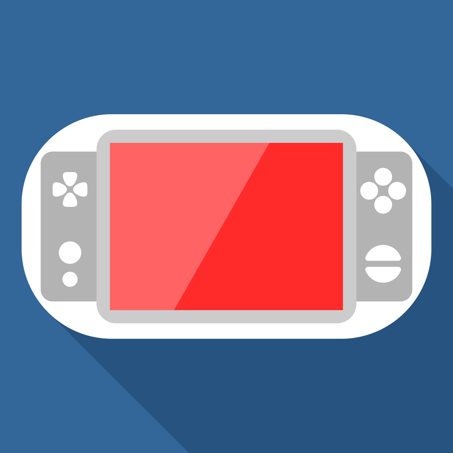 Portable Game Console. Editable Vector Graphics