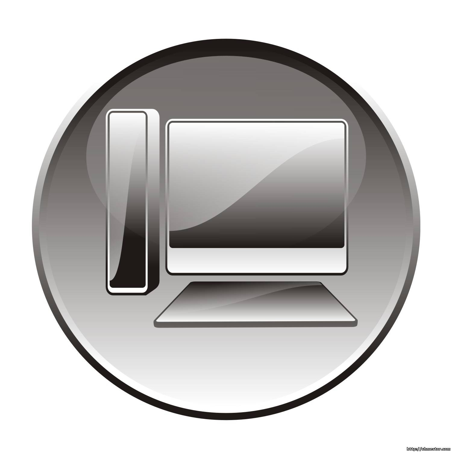 Computer detailed icon