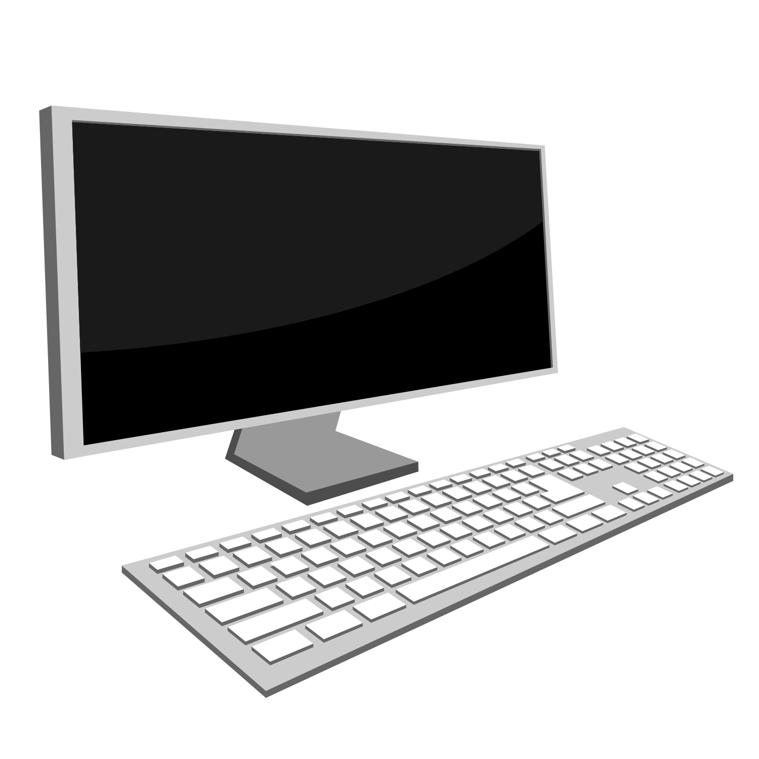 Vector for free use: Office PC Laptop Vector Illustration