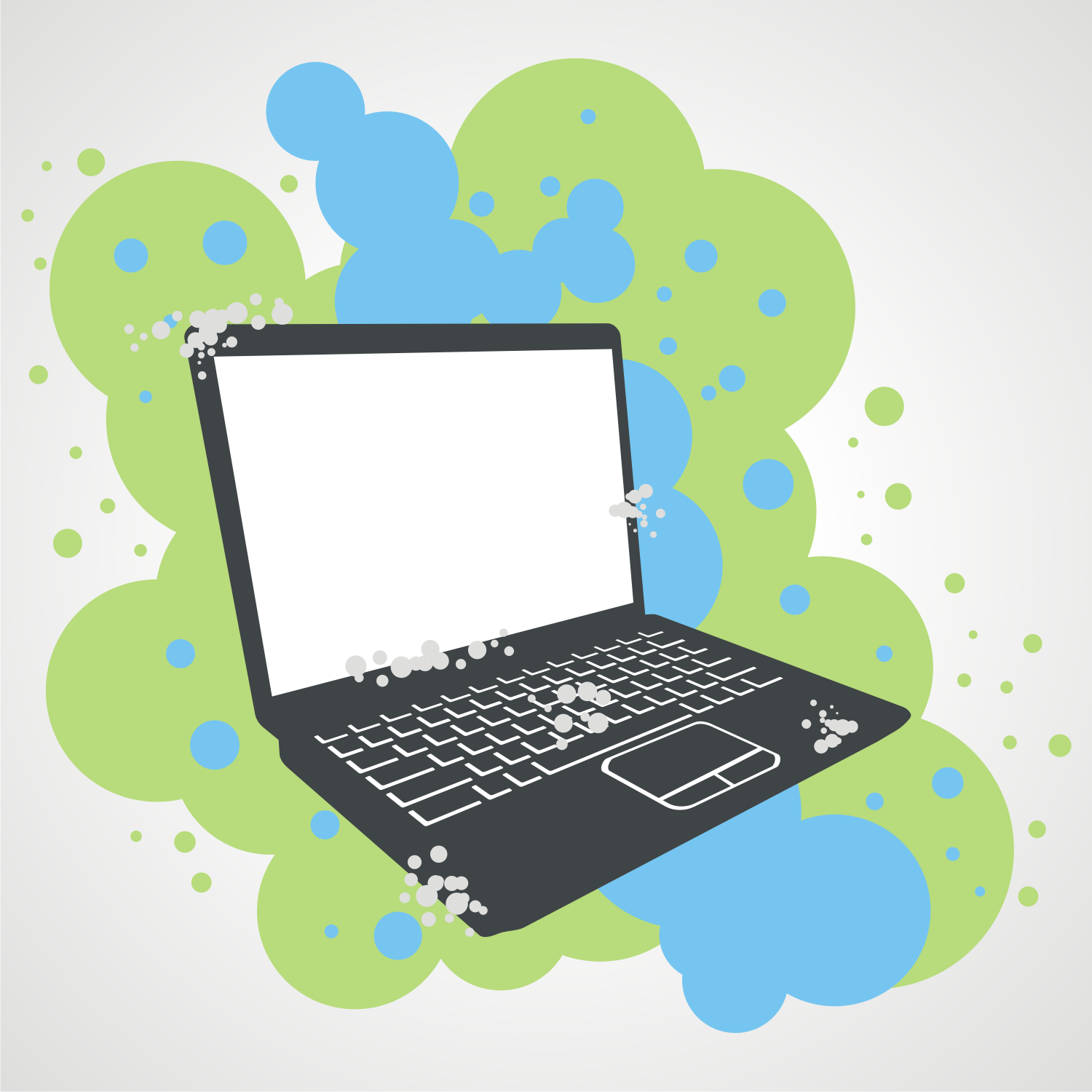 Grunge illustration of a laptop. Free vector image