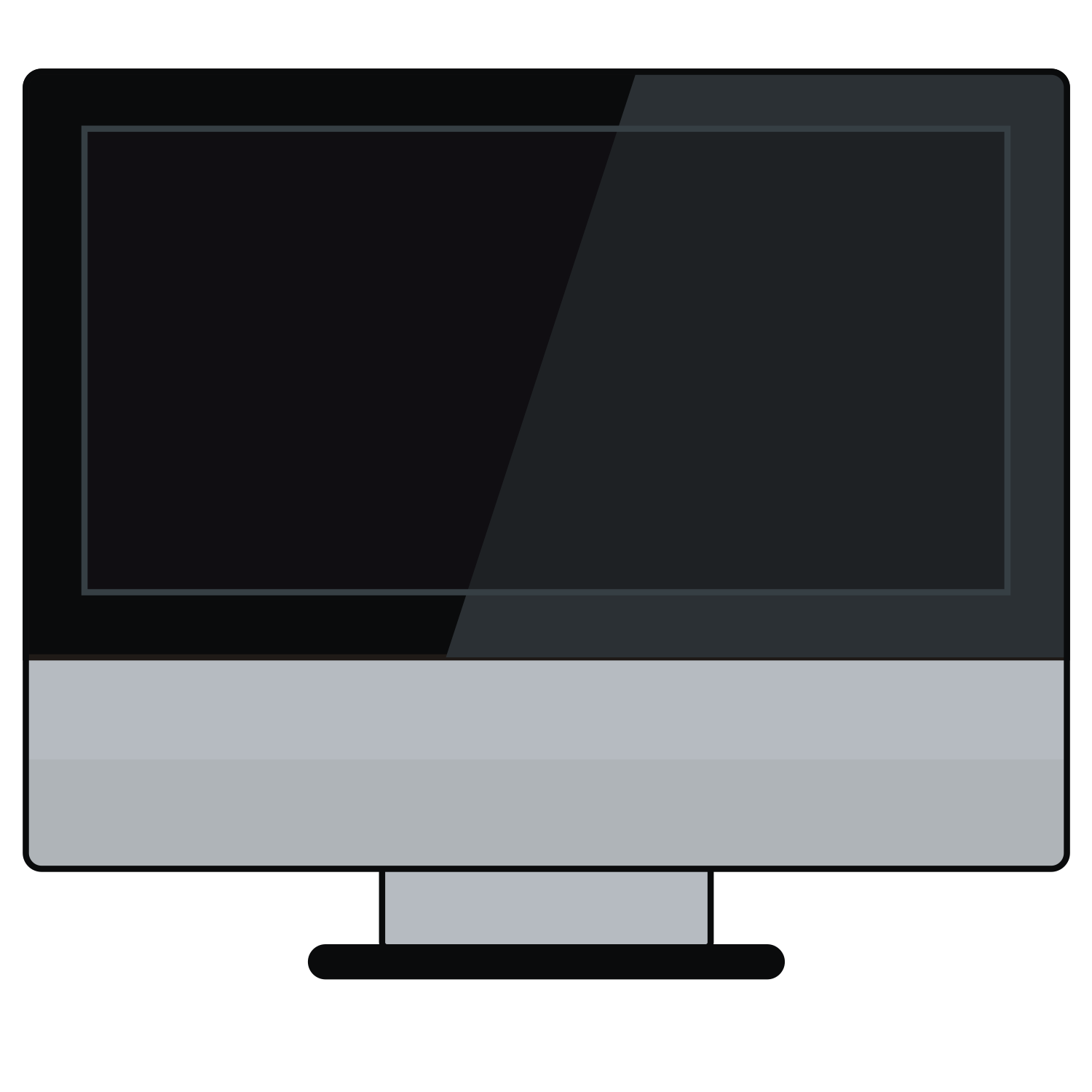 Black Computer Icon Png Modern computer icon