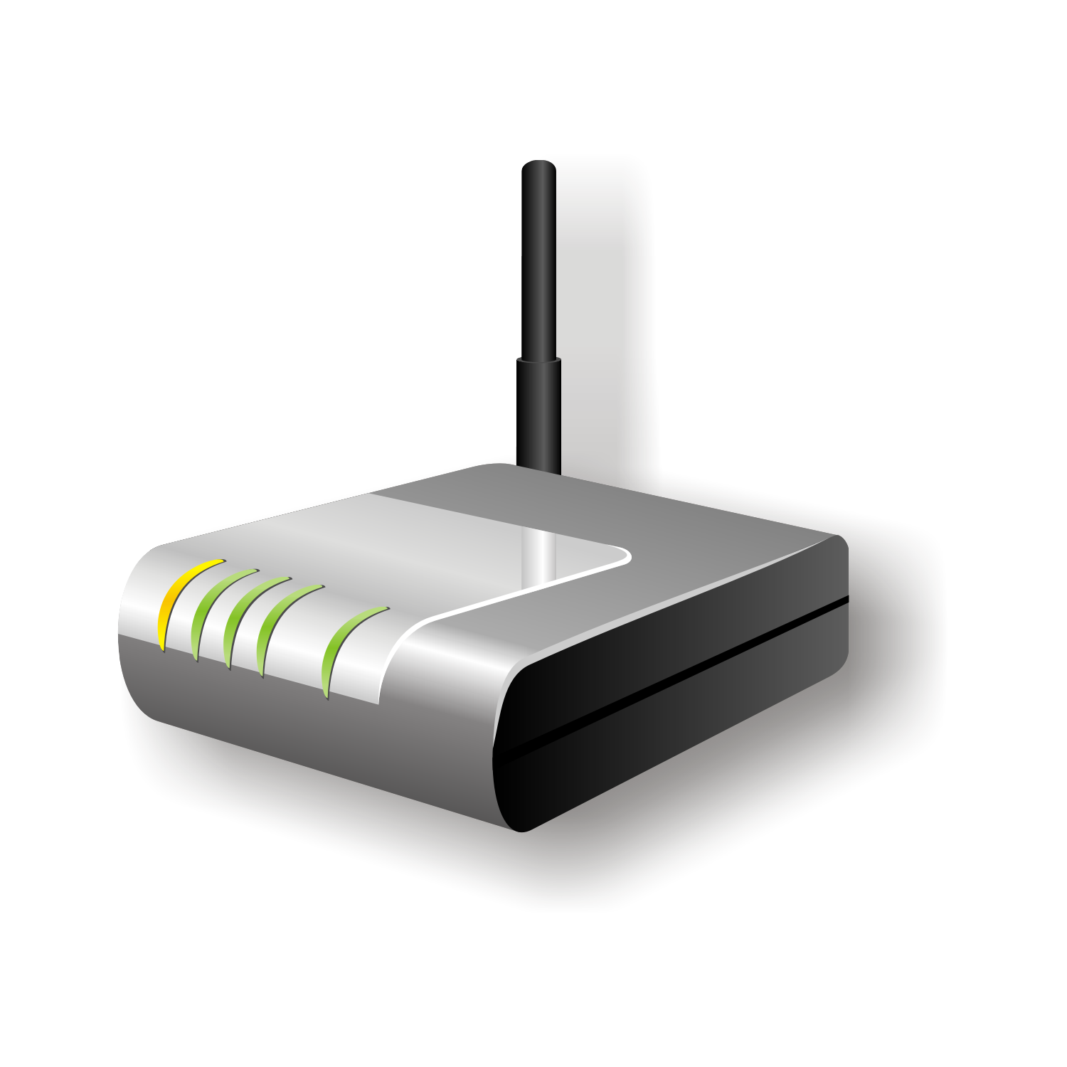 Vector for free use: Wireless router icon