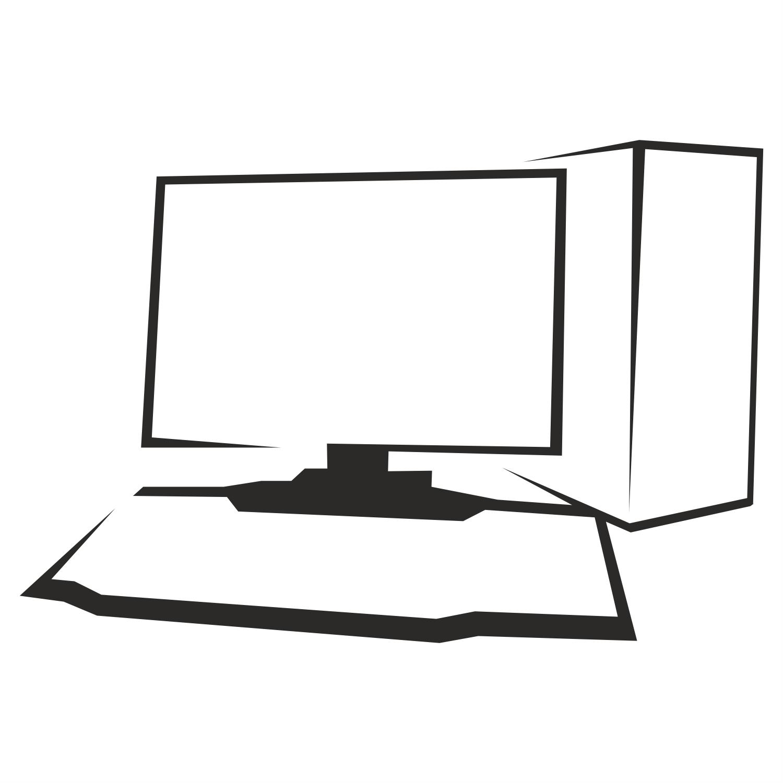 Картинка черно белый компьютер