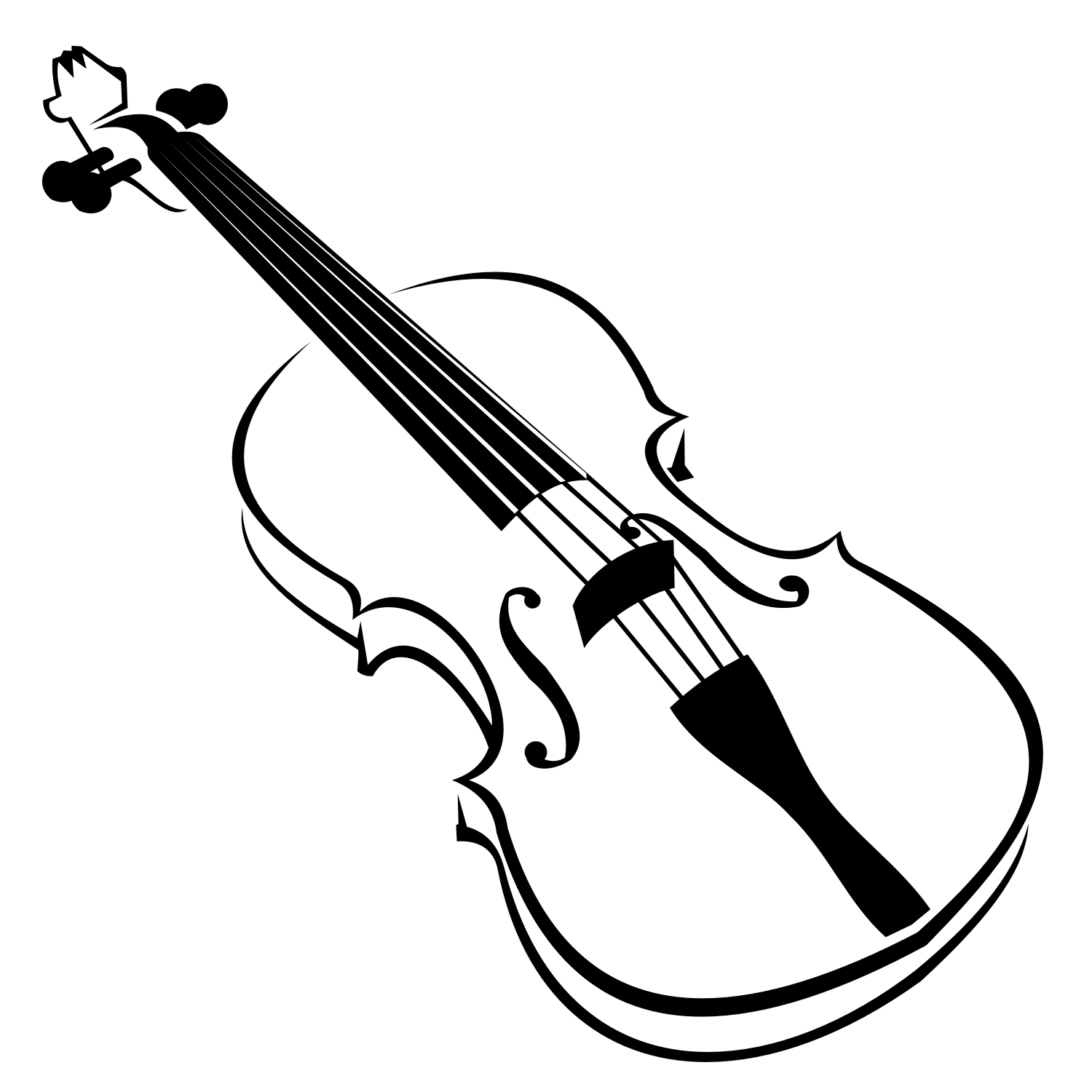 Line Drawing Violin : Vector for free use violin