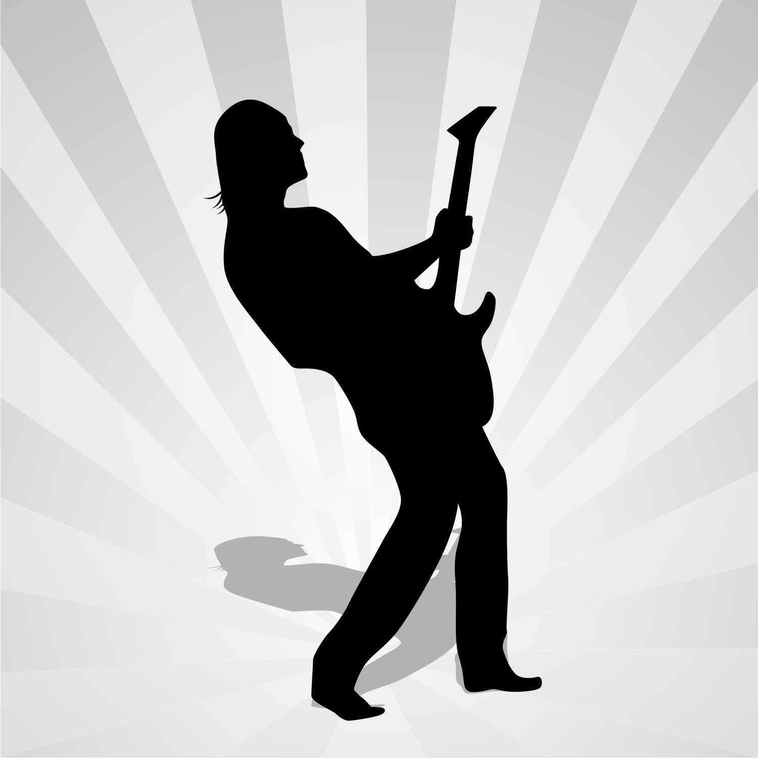 Vector For Free Use Man Silhouette With Guitar
