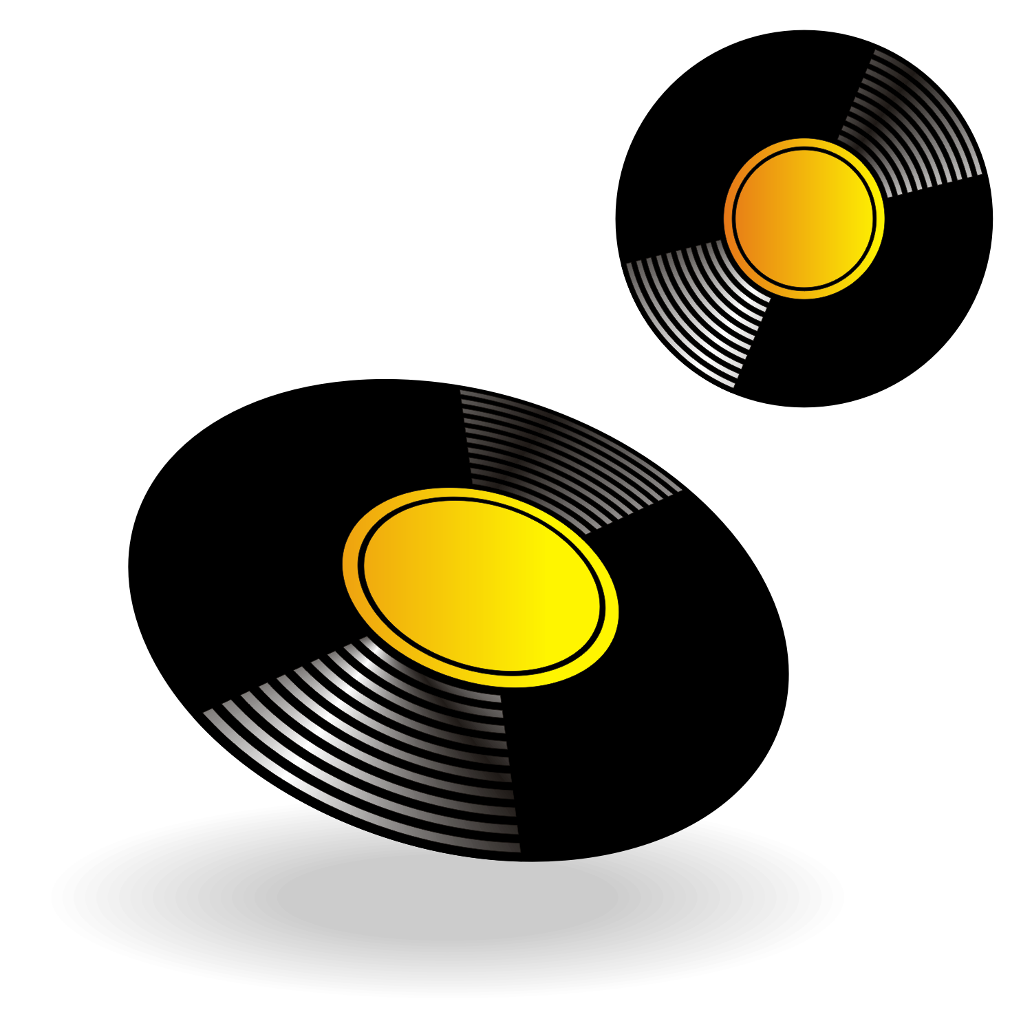 Vinyl record. Free vector illustration.