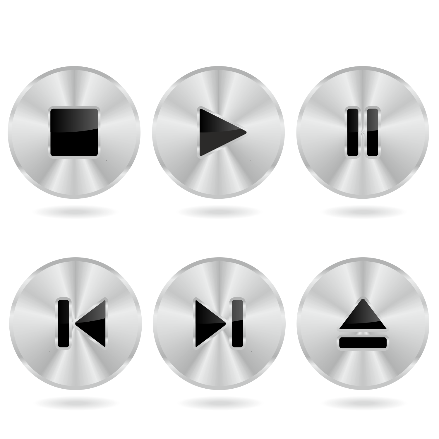 Metal player buttons