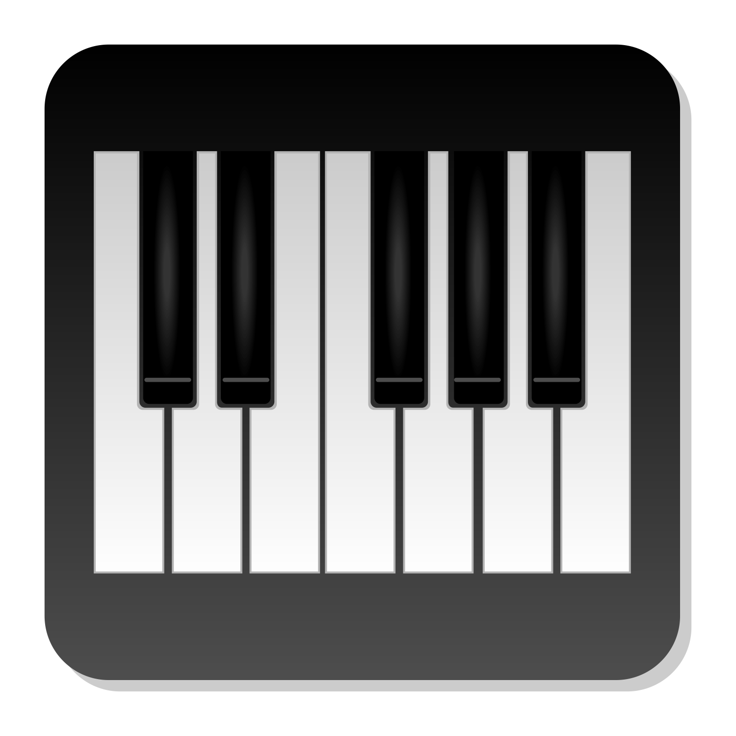 Vector For Free Use Piano Icon