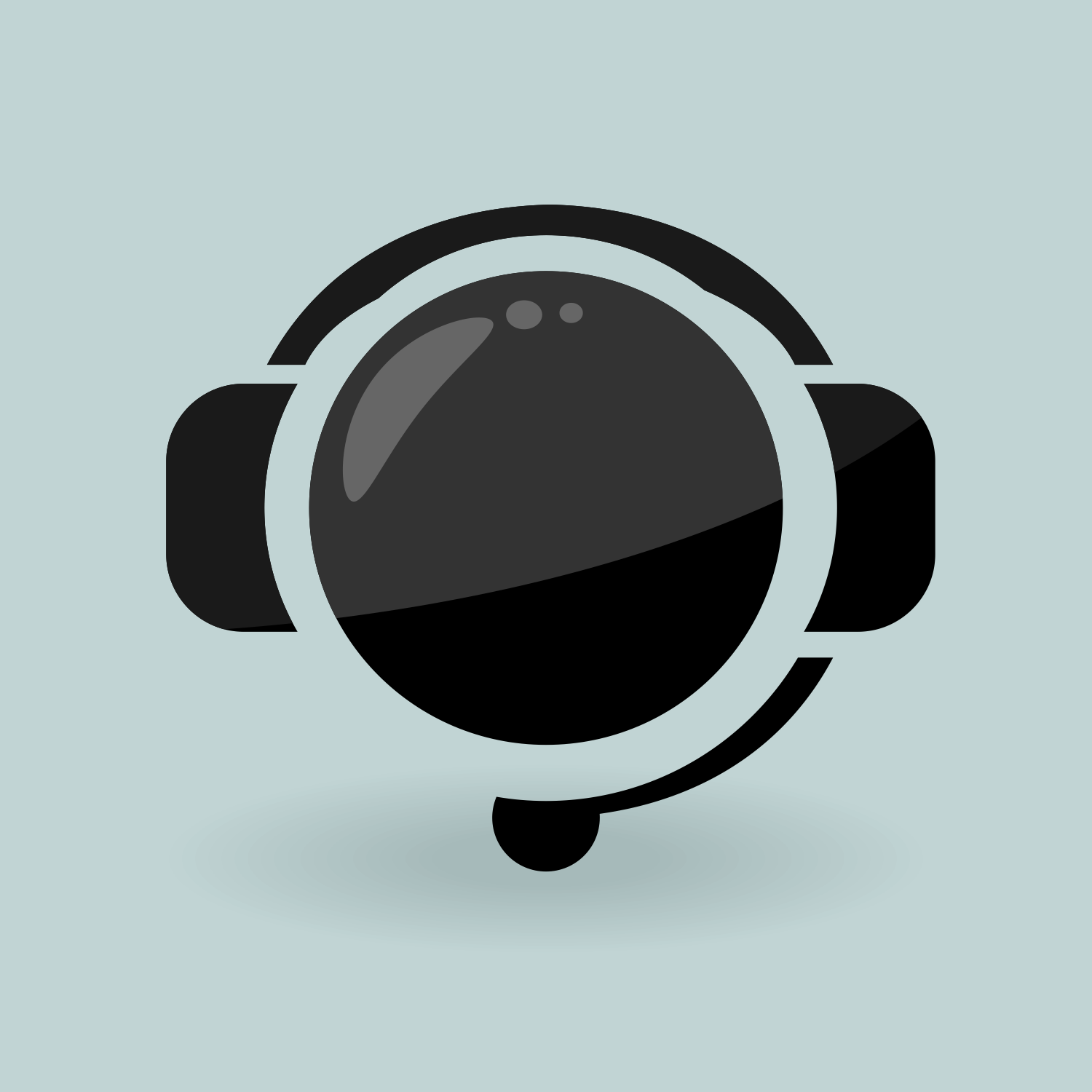 Vector for free use: Headset icon