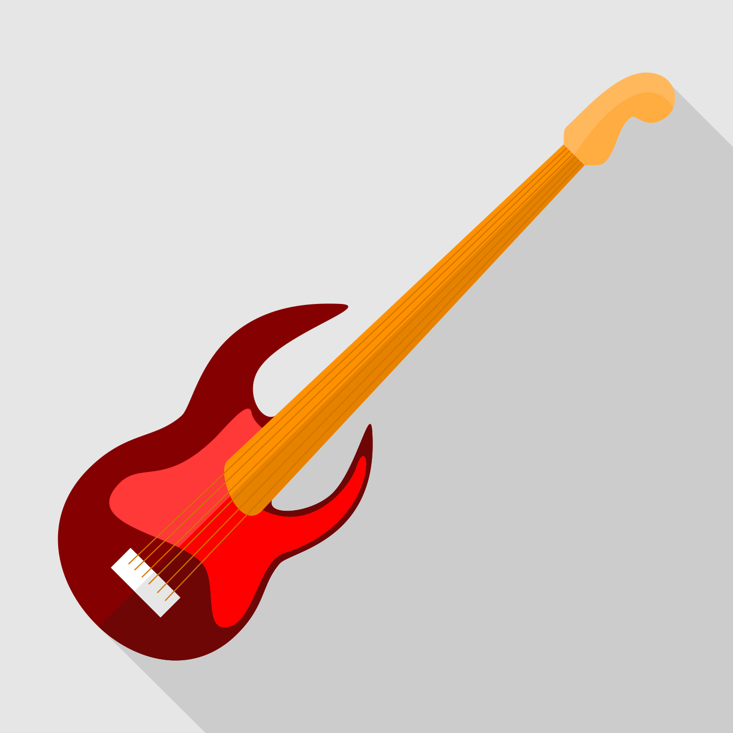 Vector for free use: Electric guitar icon