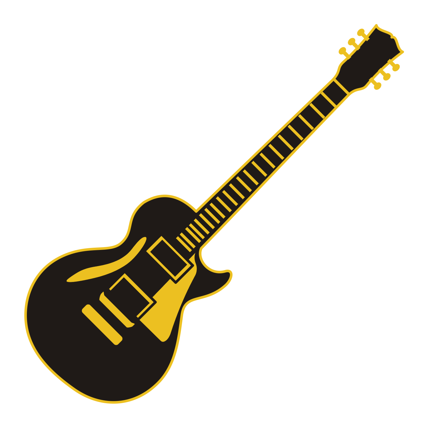 Vector for free use: Electric guitar