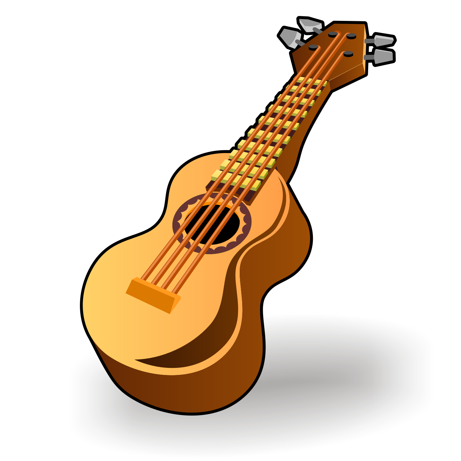 Vector for free use: Classic guitar icon