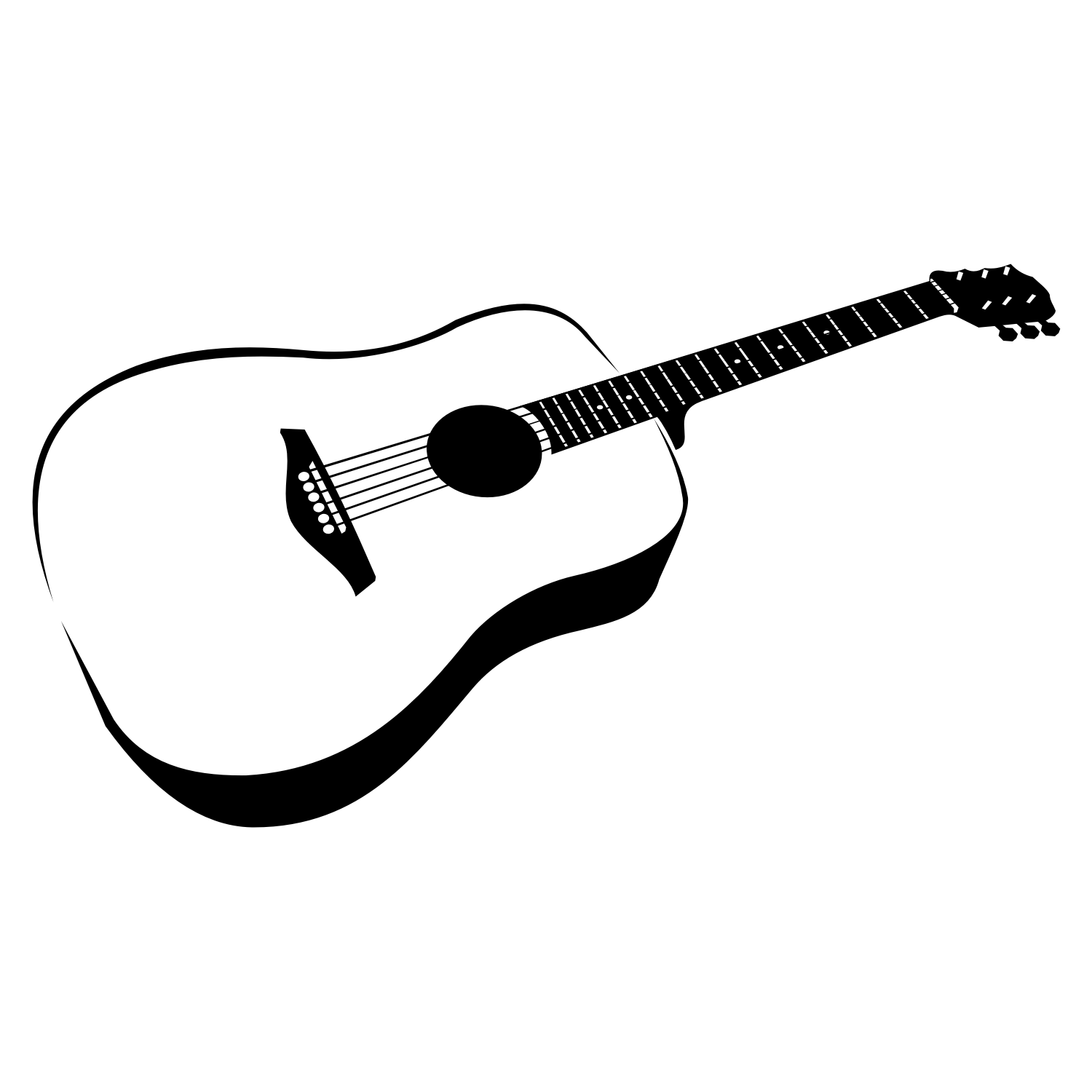 Vector for free use: Guitar Vector