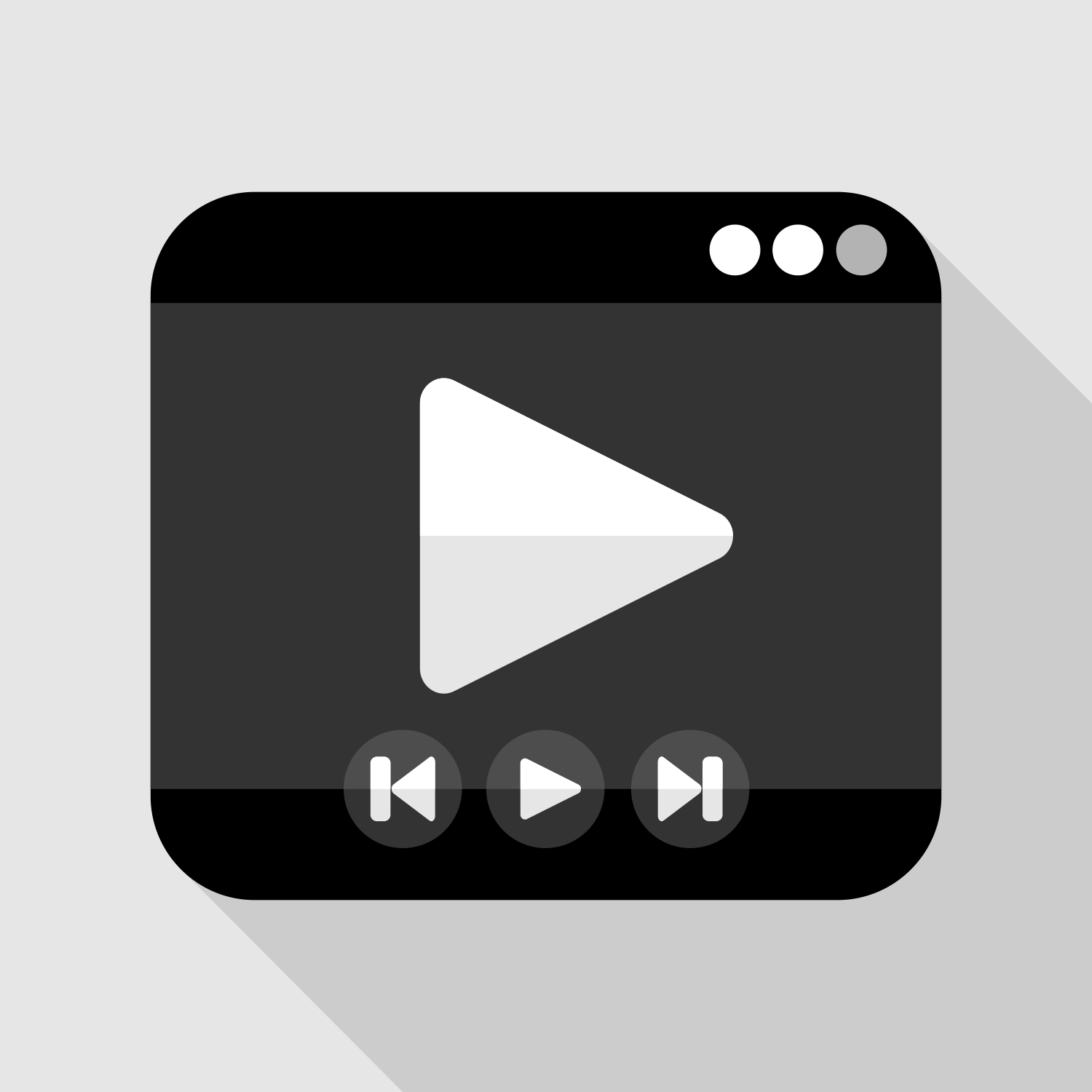 Vector For Free Use: Media Player