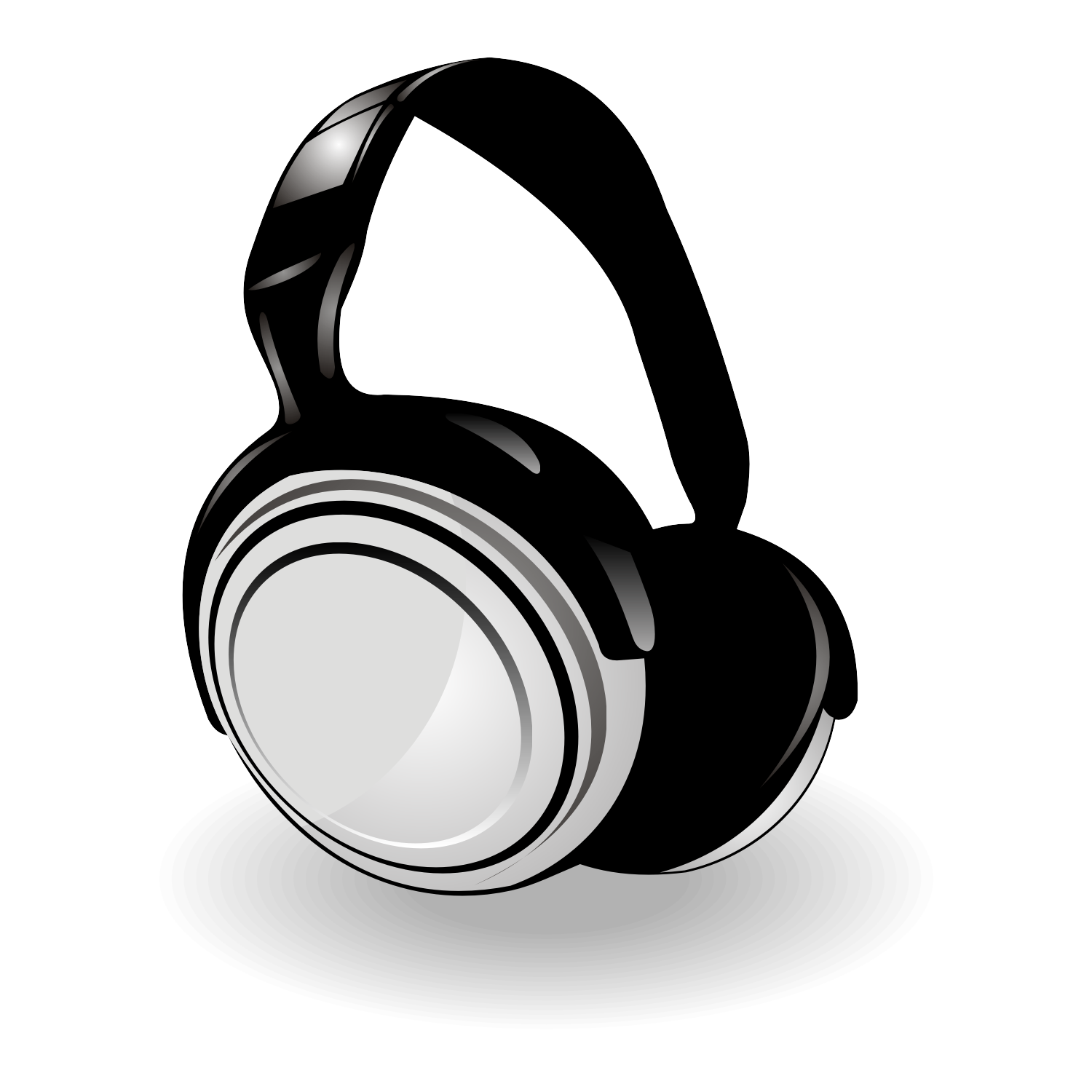 Vector for free use: Headphones vector
