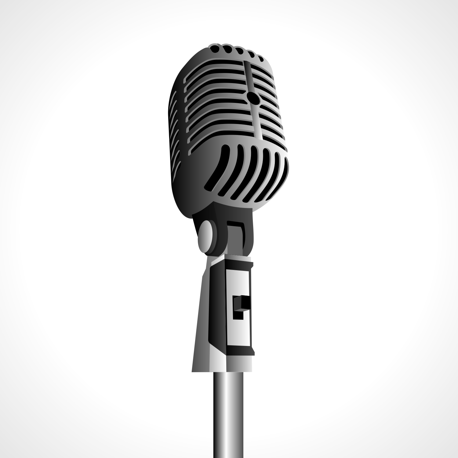 Vintage microphone. Free vector illustration