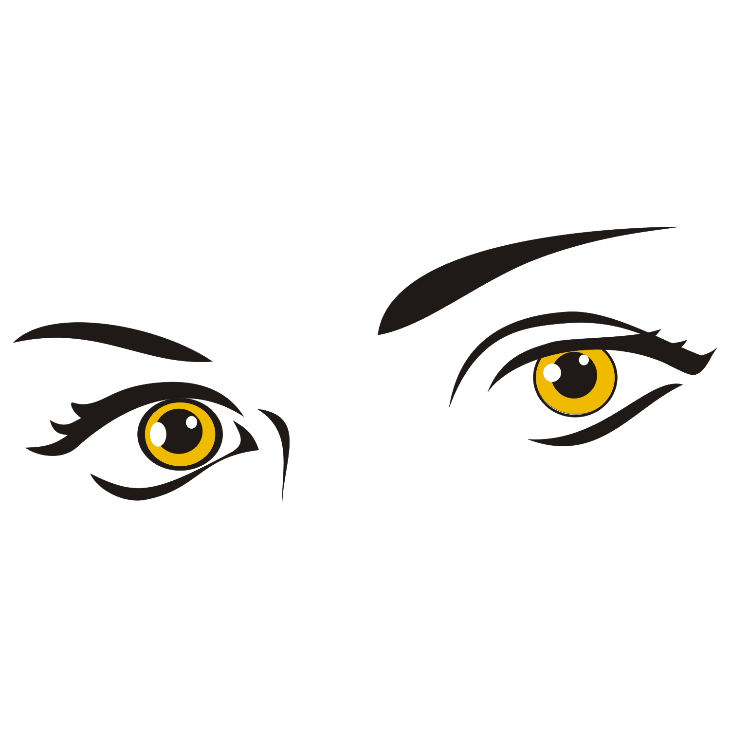 Sexy eyes illustration