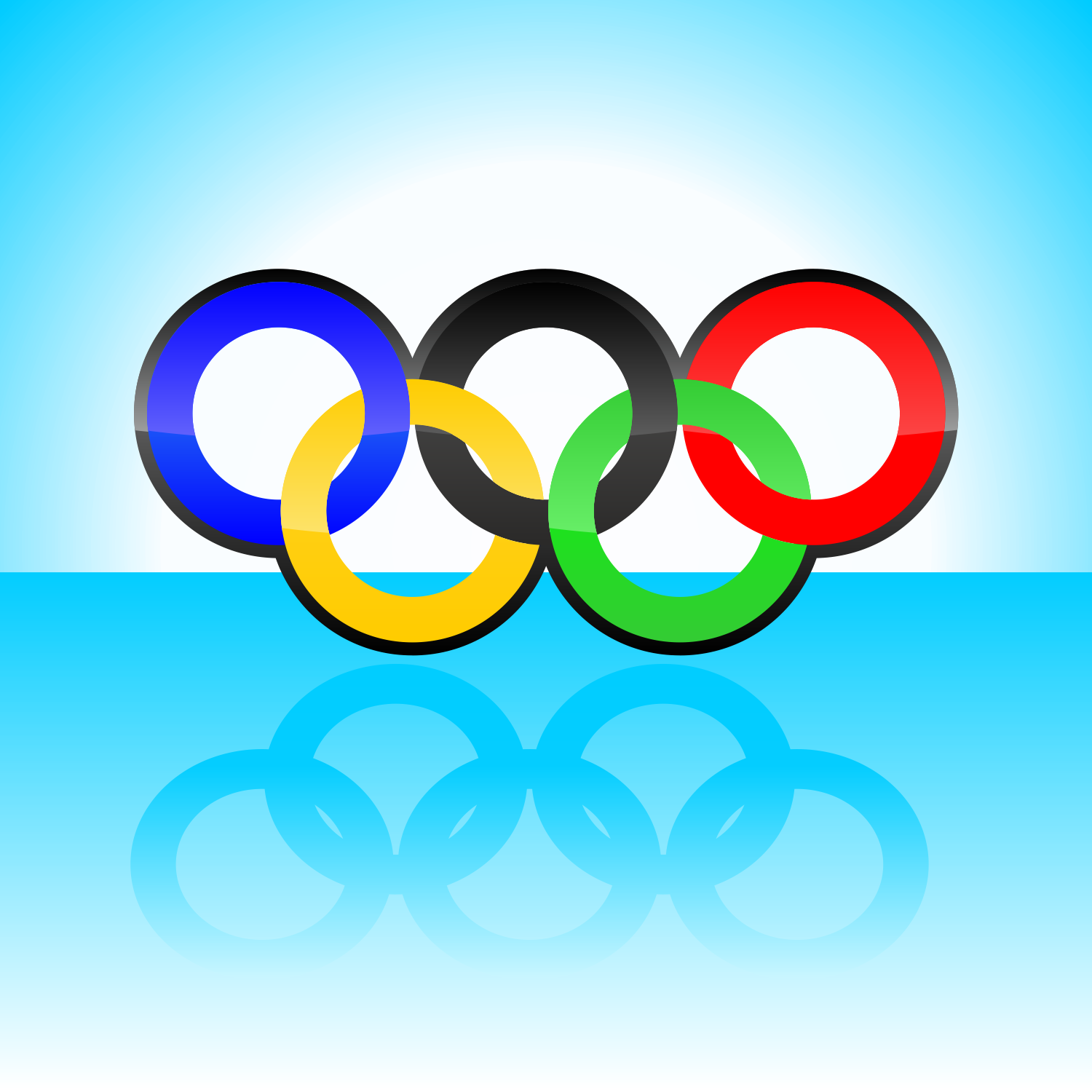 Olympic style rings. Free vector illustration