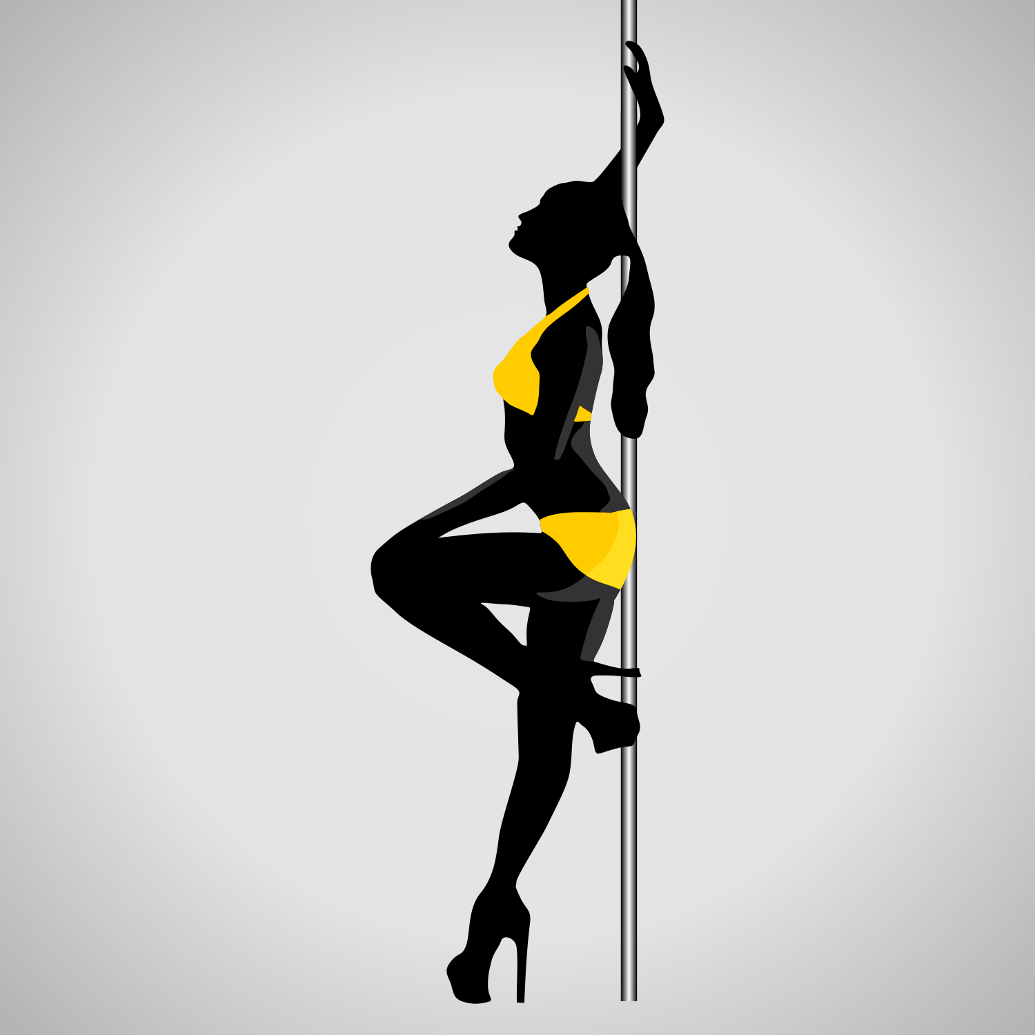 Woman dances striptease