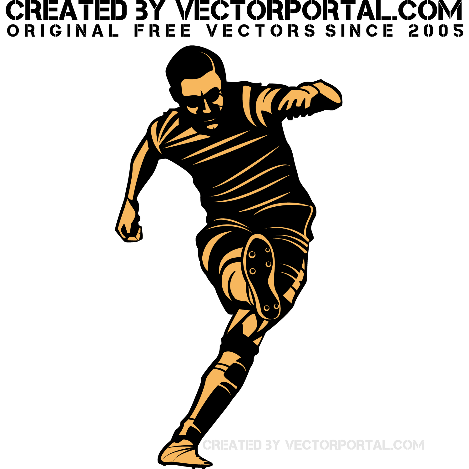 Vector illustration of a soccer player