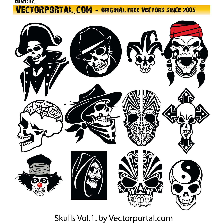 free skull vector