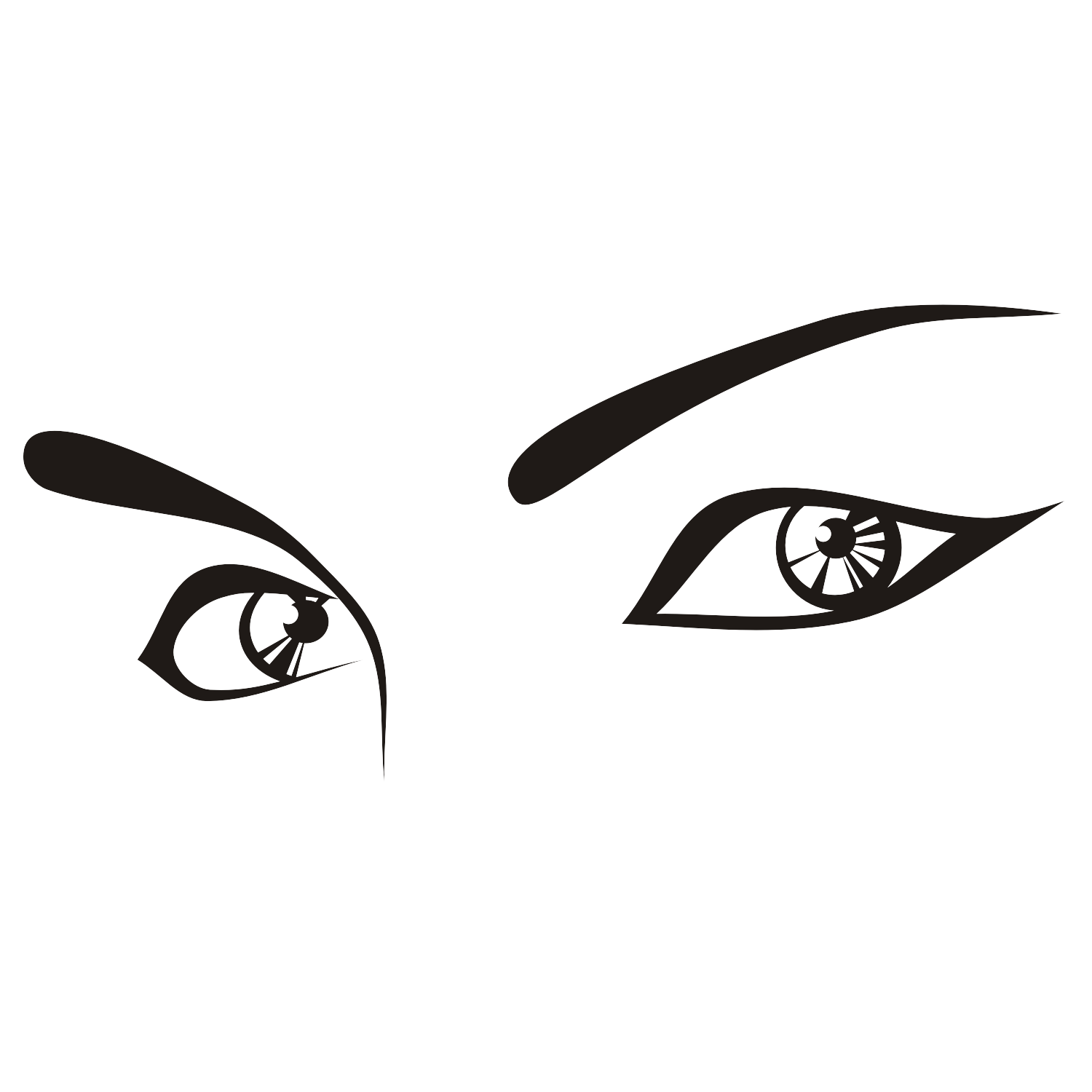 how to draw feminine eyes