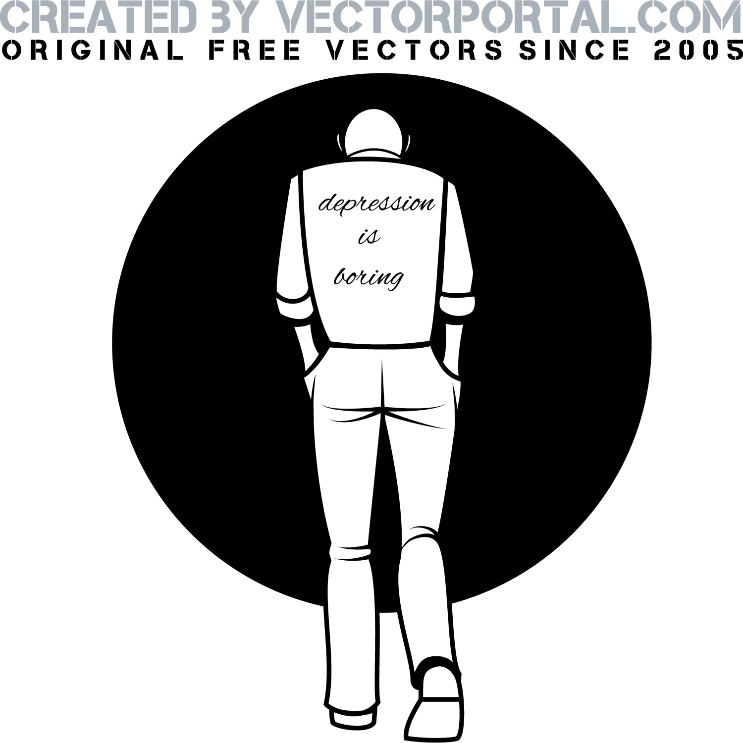 Vector For Free Use Depression Vector Illustration