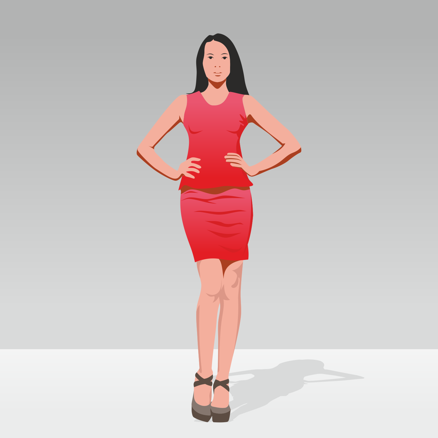 Draw 3d Online Vector For Free Use Business Woman Vector