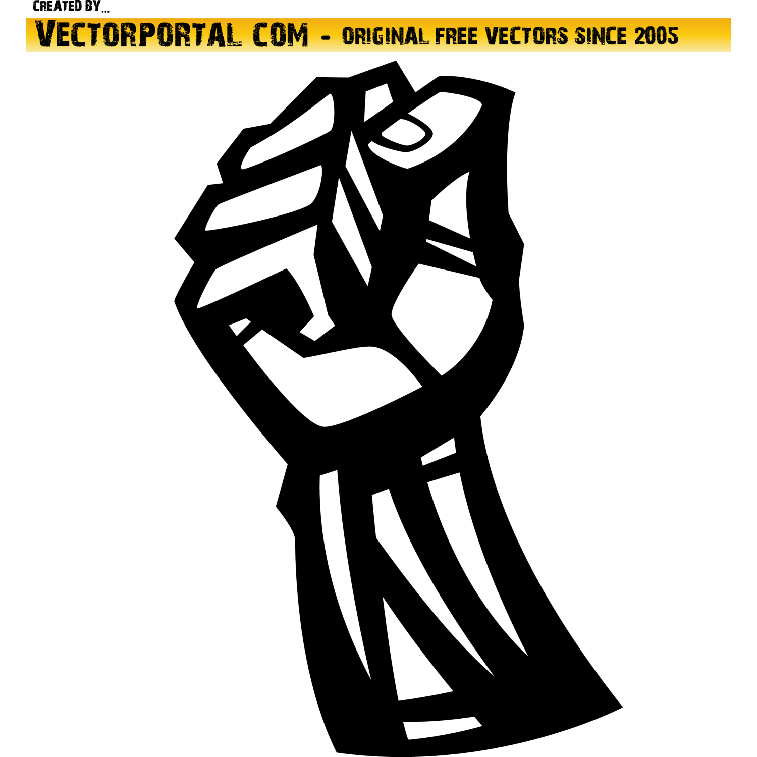 Fist - protest symbol vector