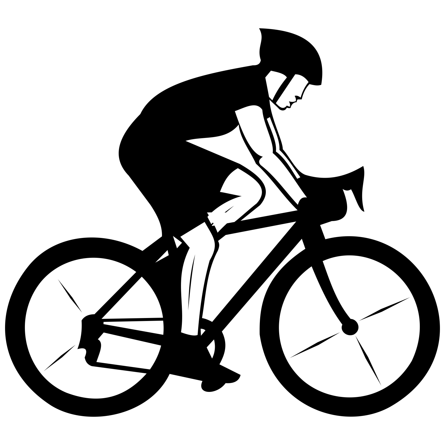 Vector for free use: Cyclist vector