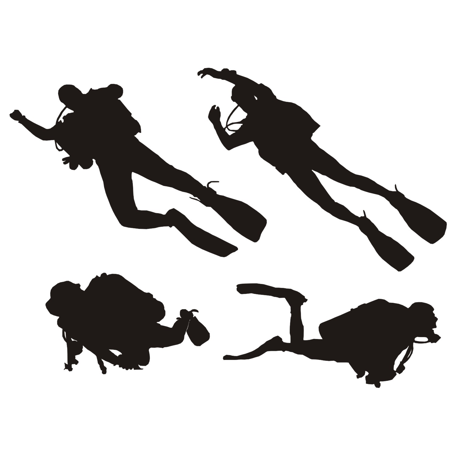 Diving silhouette