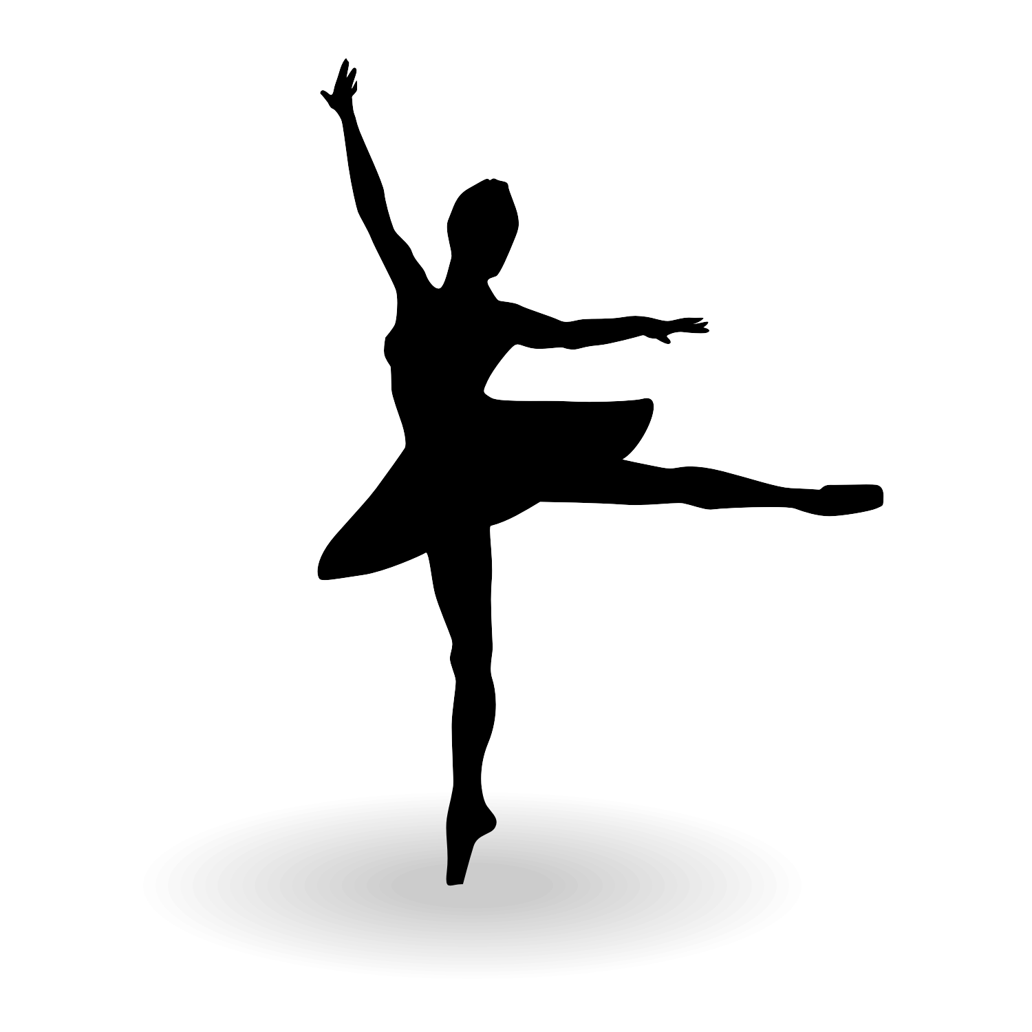 Vector for free use: Ballerina silhouette vector