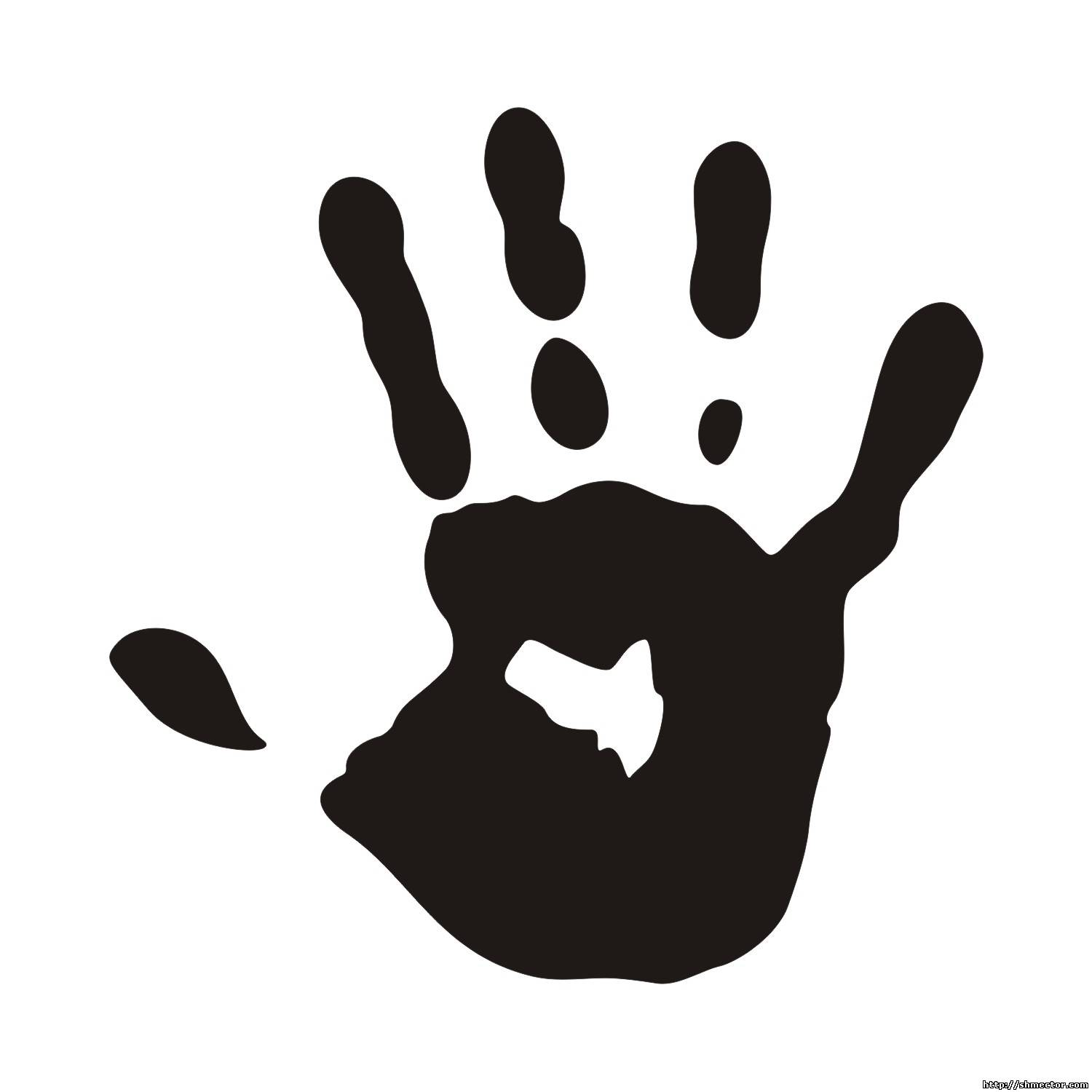 vector for free use print of a hand handprint vector art hand print vector image