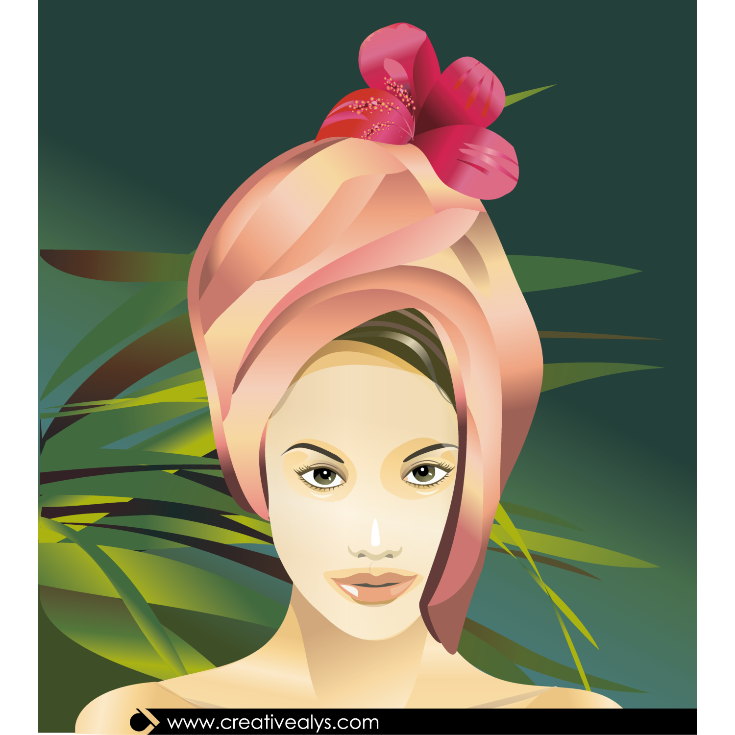 Spa Beauty Vector Illustration
