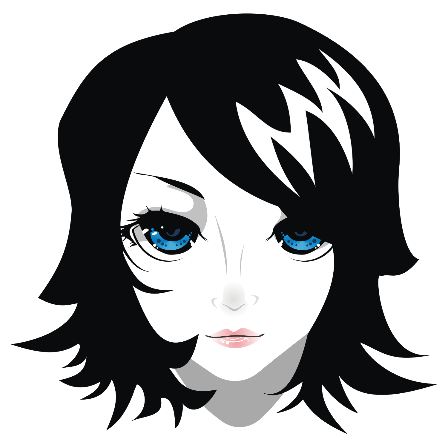 Vector image of pretty girl