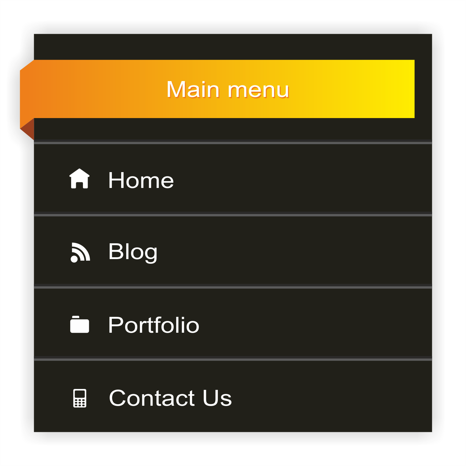 Vector Web Bar Menu
