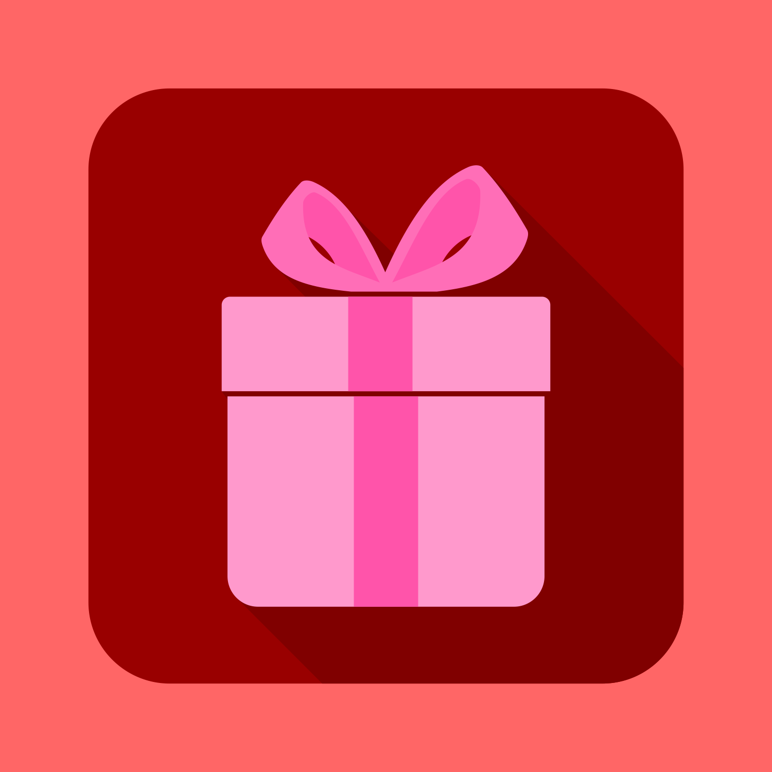 Vector for free use flat gift box icon flat gift box icon negle Image collections