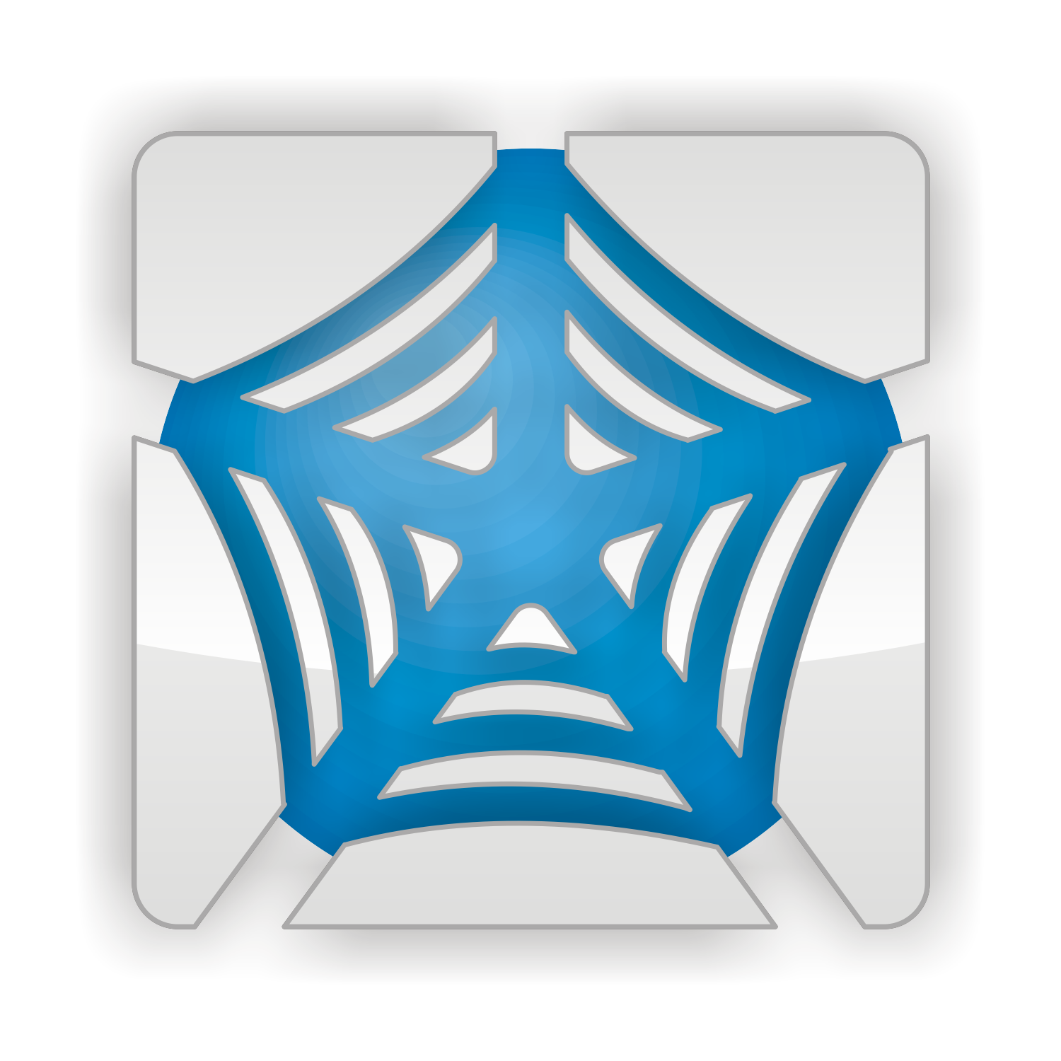 Vector for free use: Blue web icon
