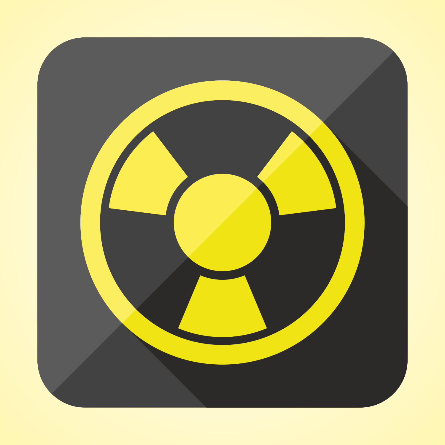 Flat radioactivity icon or button