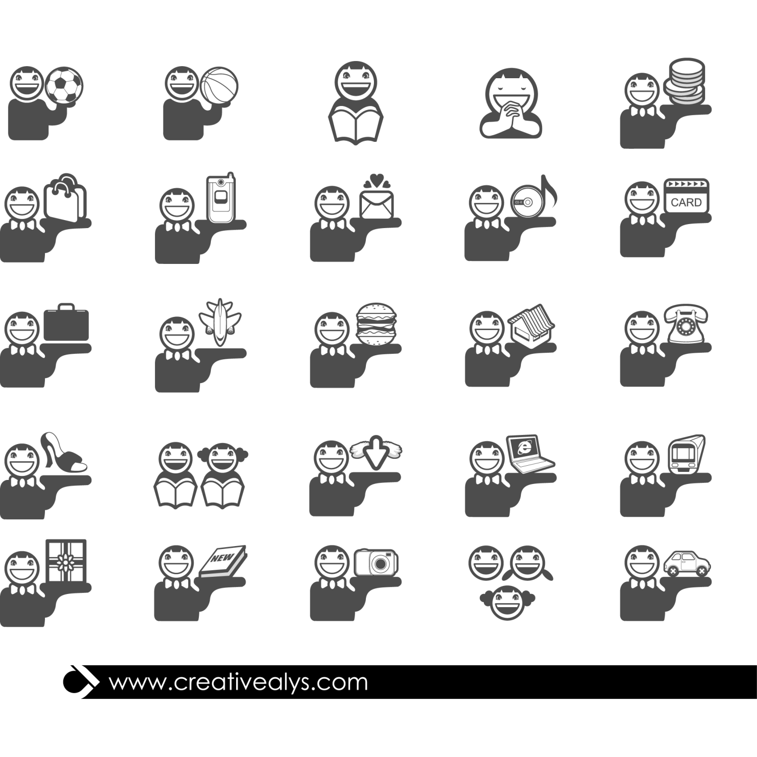 Here is a creative collection of flat person icons in vector