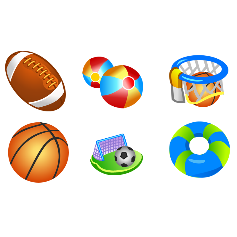 Free Vector Sport Icons Design by vector-finder.com, <br /> Set of various vector sport balls for basketball, football, soccer, baseball