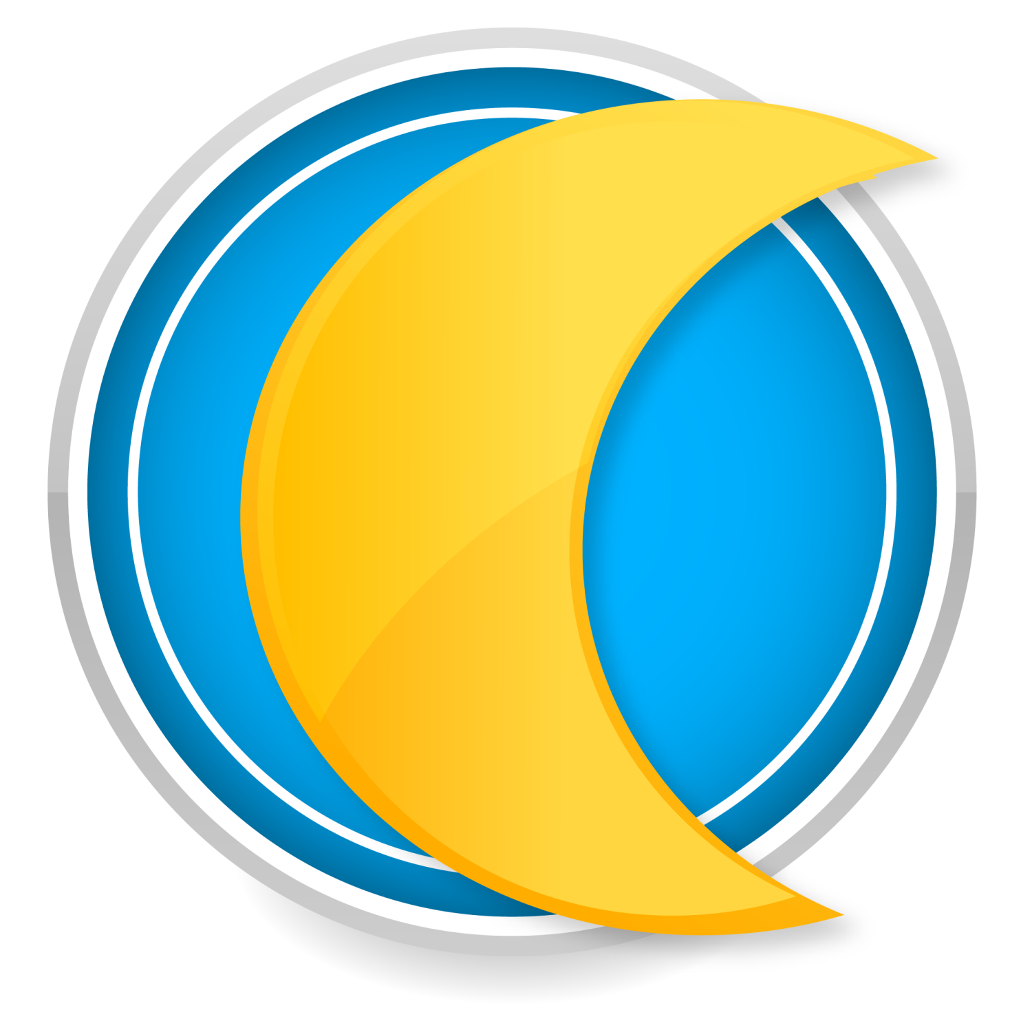 Yellow moon icon