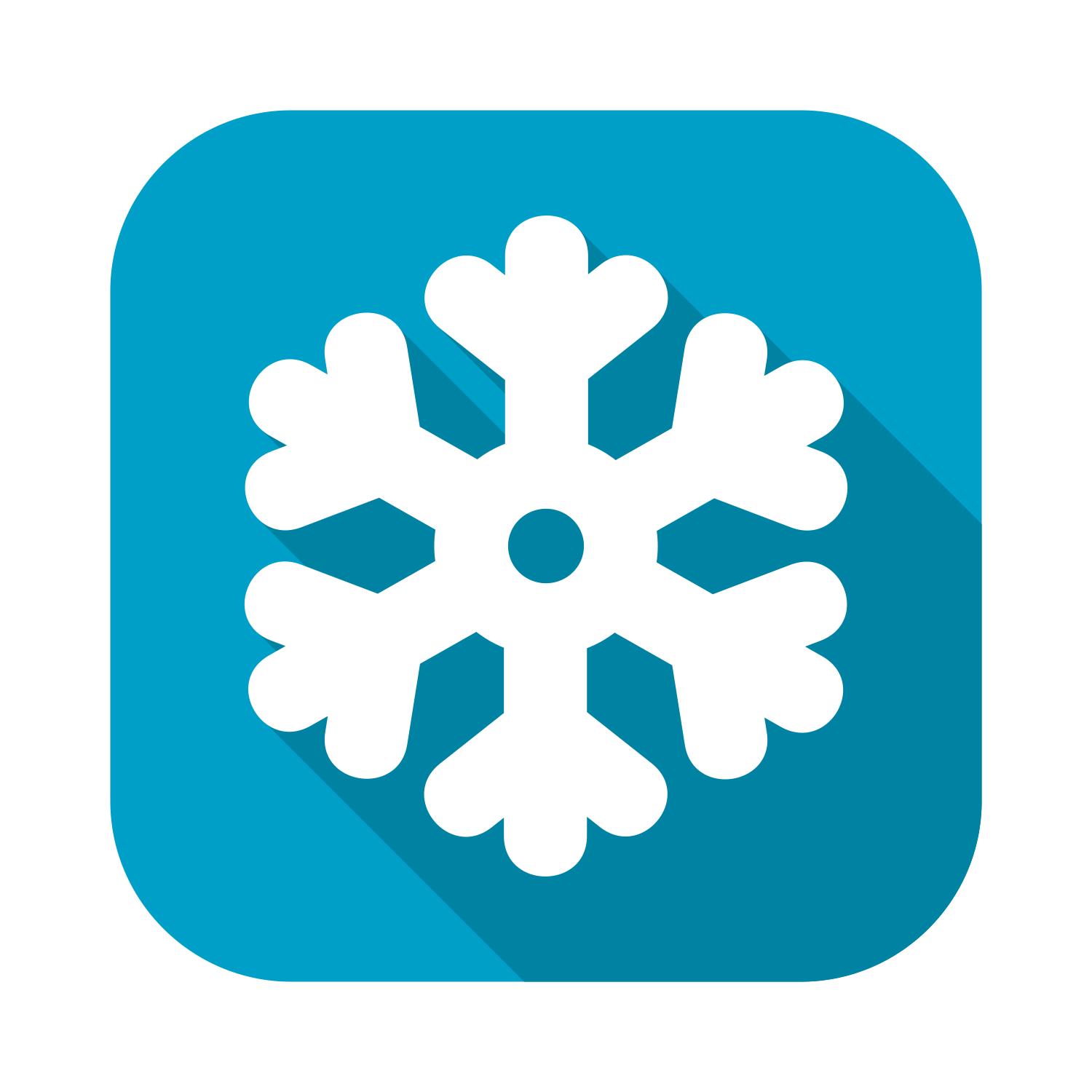 Vector for free use: Flat snowflake icon