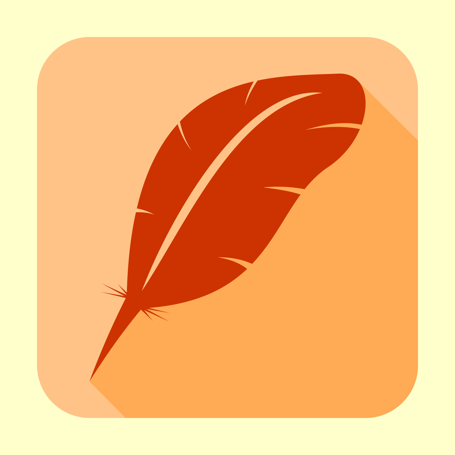 Flat feather vector