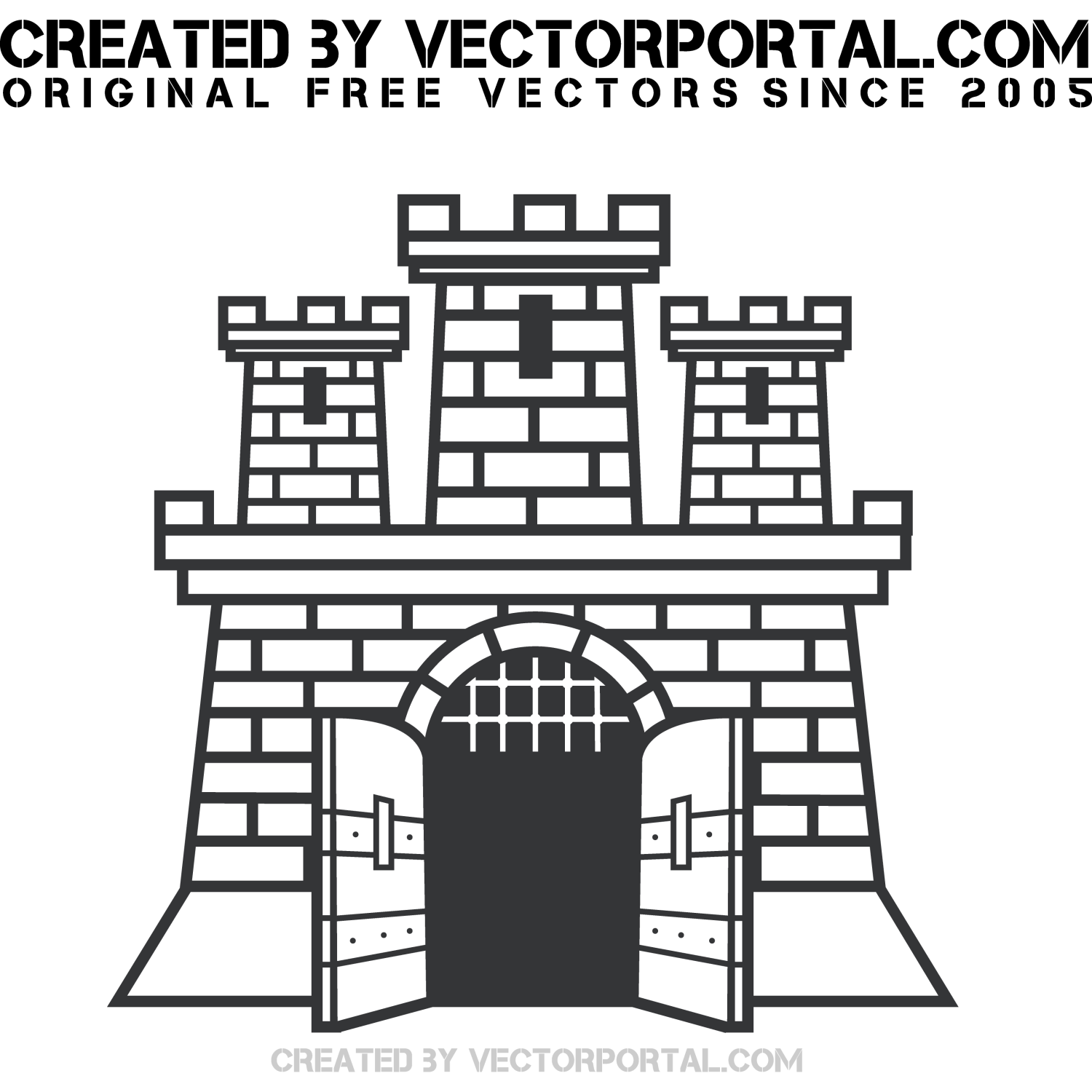 Vector illustration of a fortress