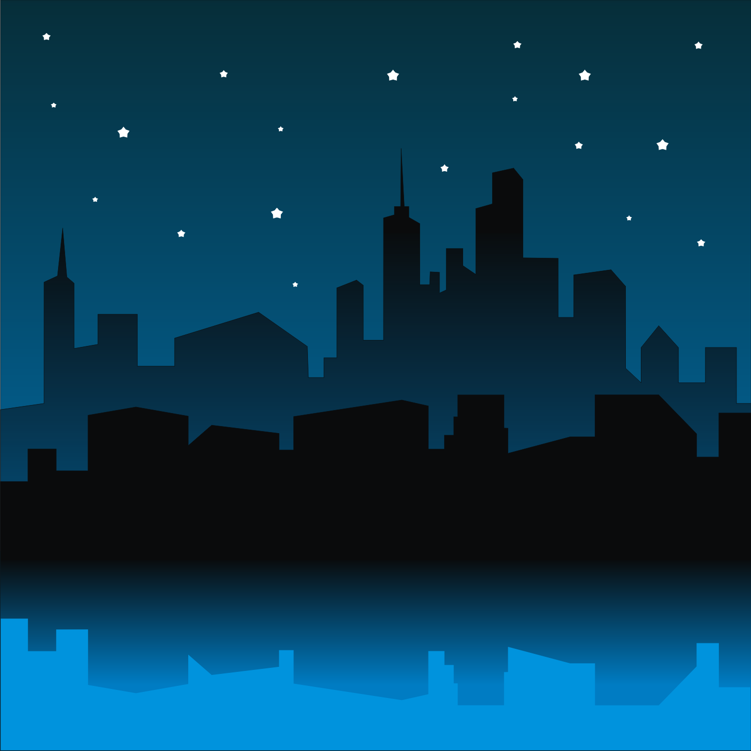 Vector for free use: City night