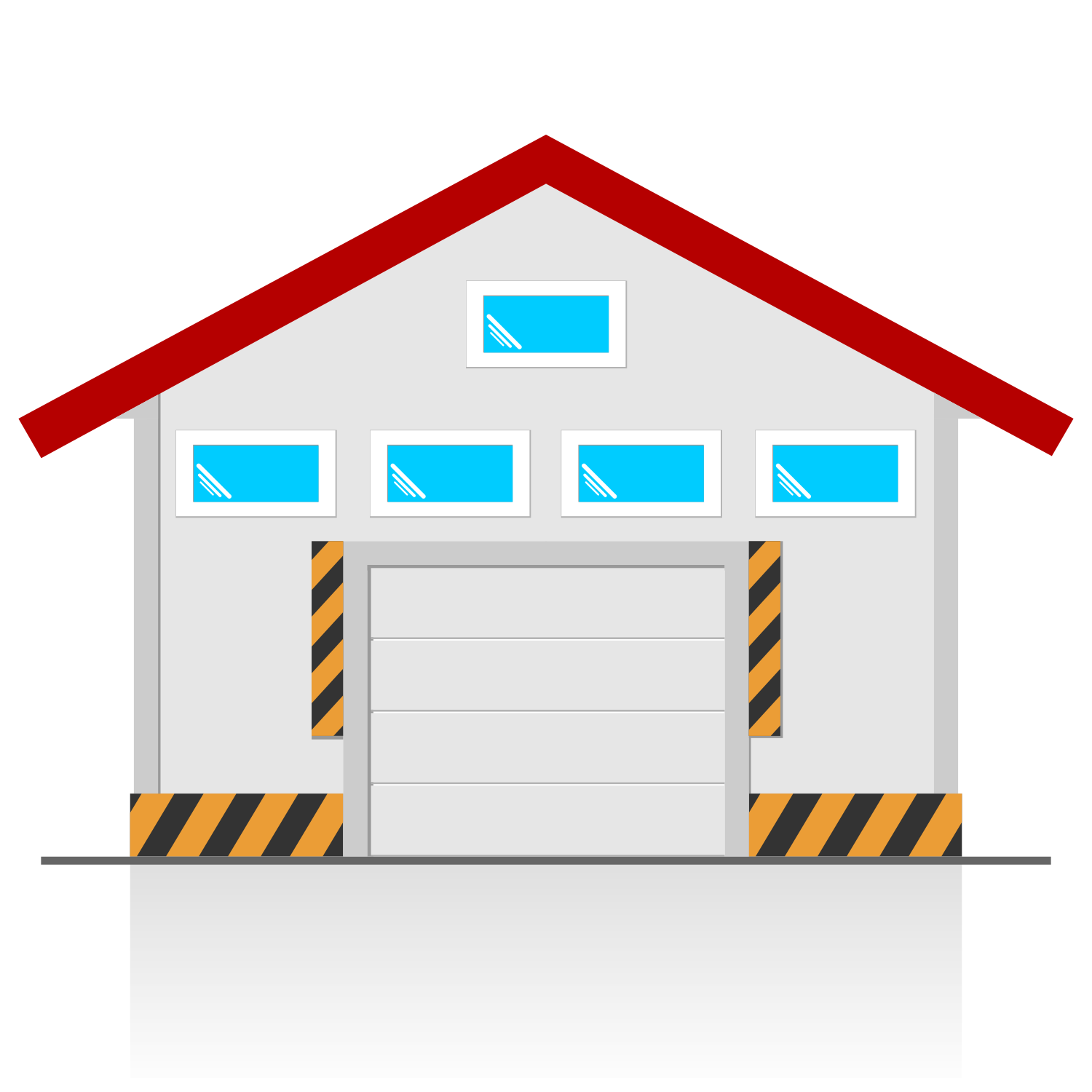 2 Car Garage Dimensions: Vector For Free Use: Garage Vector